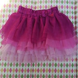 Fading Tiered Tulle Skirt